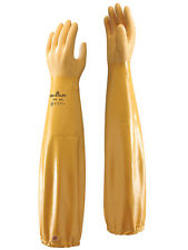 """1 x Pair Of Showa 772 ARX Nitrile 24"""" Long Sleeve Gauntlets For Entire Arm"""