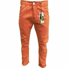 MENS TWISTED LEG CHINO FROM FLY GUY IN RUST WAIST 28 TO 32 REGULAR LENGTH BNWT