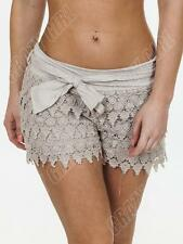 New Womens Ladies Summer Sexy Crochet Layered Lace Hot Pants Shorts Size  8 14 S