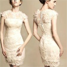 Free Shipping 2014 New Arrival Women's Velvet Lace Prom Gown Ball Evening Dress