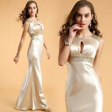 2014 Sexy Long Formal Wedding Prom Party Bridesmaid Evening Ball Gown Dress D43