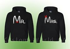 Couple Hoodie - Mr and Mrs - Couple Sweatshirt Hoodies - Fast Priority Shipping