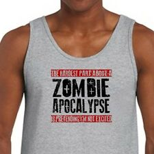 The HARDEST PART Of A ZOMBIE APOCALYPSE Funny Men's American Apparel Tank