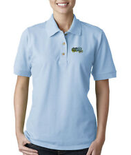 OLD TRACTOR CONSTRUCTION Embroidery Embroidered Lady Woman Polo Shirt