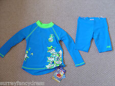 Zoggs Boys 50+ UV Sunsuit Long Sleeve 3 4 5 6 years NEW (tags)