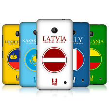 HEAD CASE DESIGNS FLAG PATCHES SET 2 CASE COVER FOR NOKIA LUMIA 630 DUAL SIM