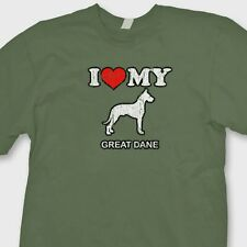 I Heart My Great Dane T-shirt Love Family Pet Dogs Rescue Puppies Tee Shirt