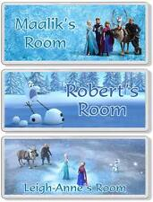 Disney Frozen Personalised Kids' Bedroom Door Plaque / Sign *ANY MESSAGE*
