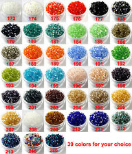 DIY Wholesale 3mm,4mm Glass Crystal #5301 Bicone beads 39 colors U PICK !
