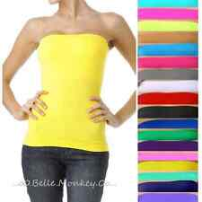 New Stretch Seamless Tube Top SLIMMING Strapless Sleeveless Basic Layering Shirt