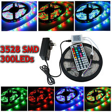 5M/10M/15M 3528 SMD RGB Warm/Cool Flexible LED Strip Light+ 24/44Key IR Remote
