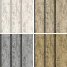 NEW MURIVA WOOD WALL FAUX WOODEN PANEL BEAM EFFECT TEXTURED VINYL WALLPAPER ROLL