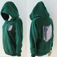 Attack on Titan Shingeki no Kyojin Mikasa Legion Hoodie Cosplay Costume Green
