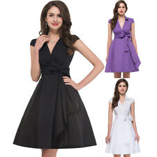2014 CHEAP Vintage 50s 60s Swing Rockabilly Pin up Evening Prom Dress Wrap Style