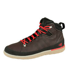 ADIDAS Zappan Winter Mid Boots Shoes High Top Sneaker Boots Brown Red V21097