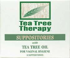 Tea Tree Therapy Suppositories w-Tea Tree Oil Vaginal Hygiene 6 Ct. (#6068)