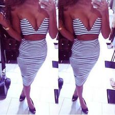 New-style-women-2-pieces-slim-fit-Bandage-Clubwear-Party-Outfit-Bodycon-Dress
