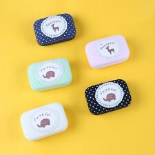New Cute Contact Lens Box Case Lovely Mini Holder Linen Container Kit Travel