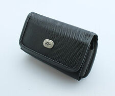 Black Carrying Leather Cover Case Pouch Side Clip Belt Loops for Insulin Pump