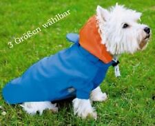 Dog Rain Jacket with Hood, blue, Rain protection, 3 Sizes = S, M, L