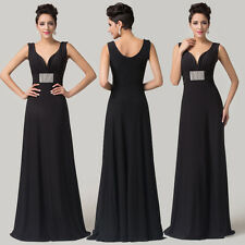 V-Neck Style Long Slim Bridesmaid Dresses Prom Dress Ball Evening Gown Ball Gown