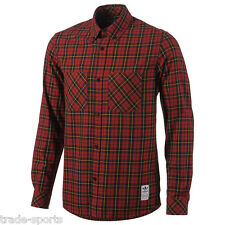 adidas ORIGINALS MENS CHECK SHIRT RED SIZE XS S M L XL CASUALS TREFOIL SMART