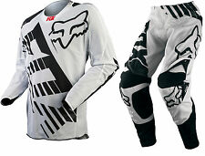 NEW 2015 FOX RACING 360 SAVANT AIRLINE VENTED MX GEAR COMBO WHITE/BLK ALL SIZES