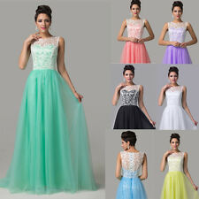 Women Sexy Long Evening Gown Bridesmaid Dresses Prom Wedding Party Dress UK 6~20
