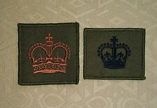 Royal Marines Warrant Officer 2 WO2 Combat Rank Helmet Patch- Black & Golden