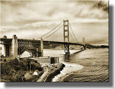 San Francisco Golden Gate Bridge Picture, Wall Decor Made on Wood, Read to Hang