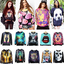 Women Men Space Galaxy Printing Hoodie T-shirt Sweater Sweatshirt Pullover Tops