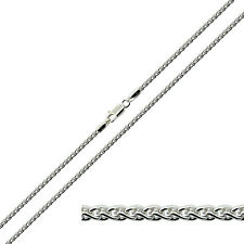 925 Solid Sterling Silver  1.8mm Spiga Wheat Chain Bracelet Anklet