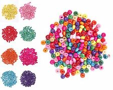 500 Pcs Colorful Rondelle Wood Spacer Loose Beads Charms Finding