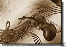 Music Notes Violin Picture Made on Wood, Wall Art Decor Ready to Hang.