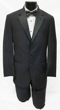 New Black Calvin Klein Tuxedo with Flat Front Pants Wedding Prom Formal 41L