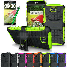 Rugged Armor Heavy Duty Hybrid Case Stand Cover+Film For LG G Pro Lite D682 D680