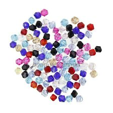 Wholesale 100pcs Loose Rhinestone Crystal Bicone Spacer Beads For Jewelry Making