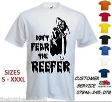 Mens Dont Fear The Reefer T Shirt Custom Funny Cannabis Print