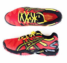 ASICS GEL RESOLUTION 5 Red/Ylw - men's tennis court shoes sneakers - Auth Dealer