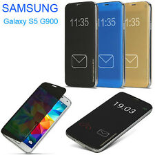 Rock APP Smart Transparent View Flip Case Cover for Samsung Galaxy S5 G900 i9600