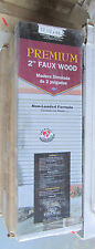 """New 2"""" faux wood Plantation blinds 60"""" -77"""" wide mobile home RV house P601-704"""