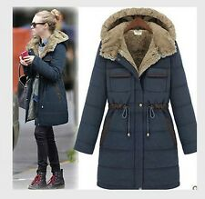 2014 New Listing women's Outdoor leisure Hooded padded jacket long coat Overcoat