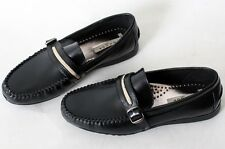 MOODA SOUL-B New Mens Leather Business Casual Shoes for Men Boat Loafers Blacks