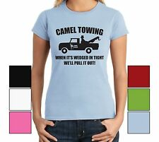 Camel Towing Funny Juniors T Shirt Adult Humor Rude Gift Tee Shirt Tow Truck Tee