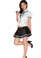 Black and White School GIRL Halloween Party Fancy Dress Student COSTUME tutor