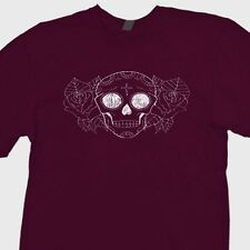 SUGAR SKULL Day Of The Dead T-shirt Mexican Halloween Skeleton Tee Shirt