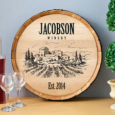 Wine Barrel Man Cave Pub Bar Personalized Custom Sign