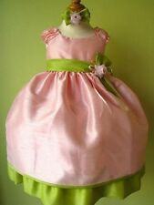 New Baby Girls Pink Lime Green Dress Pageant Christmas Easter Party Dressy Fancy