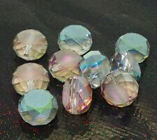 20pcs green rose Faceted Rondelle crystal glass Loose beads 12mm