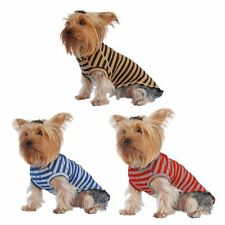 Soft Clothes For Pet Puppy Dogs Popular Stripe T-Shirt Tee Comfort